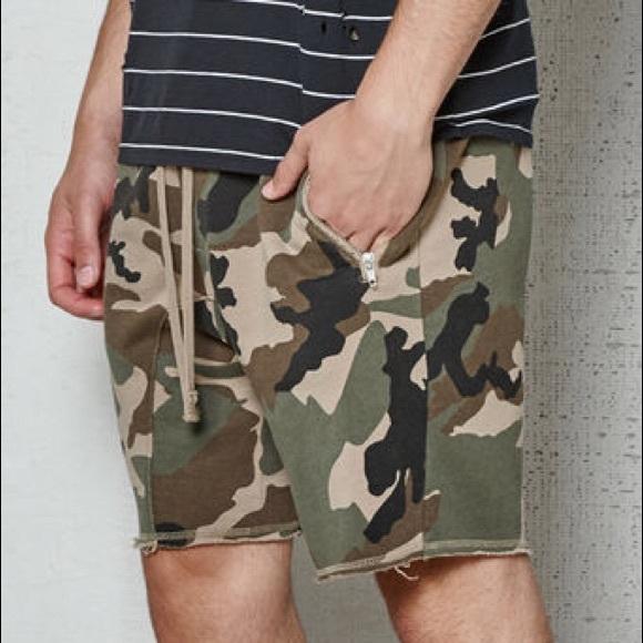 3d3e609655 PacSun Shorts | Drop Skinny Camo French Terry | Poshmark